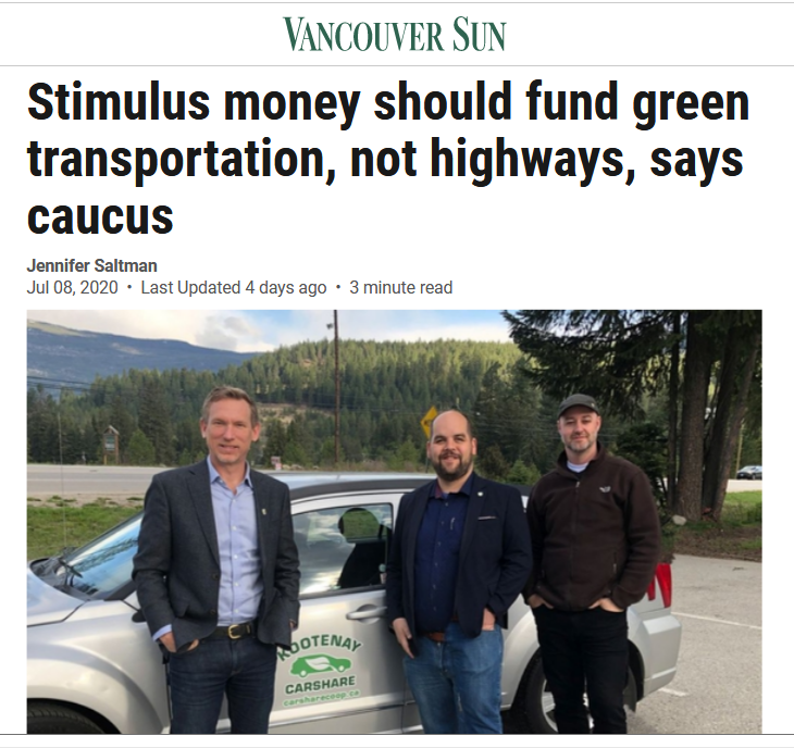BTA in News – Stimulus money should fund green transportation, not highways